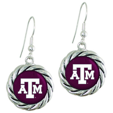 Texas A&M Maroon Westport Round Earring