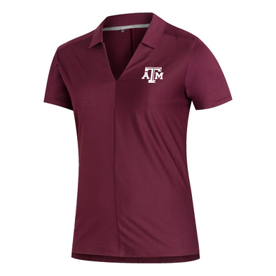 Texas A&M Adidas Women's Aeroready Maroon Polo