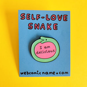"""SELF-LOVE SNAKE"" ENAMEL PIN"