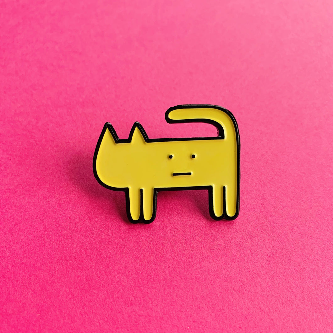 """CAT"" ENAMEL PIN"
