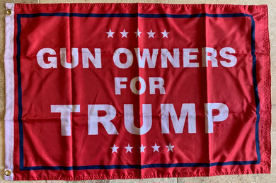 Gun Owners For Trump Double Sided Flag Rough Tex ® 2'x3' 100D