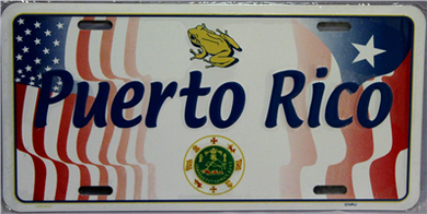 Puerto Rico & USA with Frog & Seal License Plate