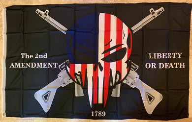 Liberty Or Death 2nd Amendment Double Sided Flag 3'x5' 100D ROUGH TEX ®