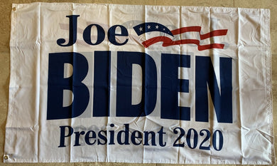 *NOW IN STOCK* Joe Biden Official Democratic Party Presidential Banner White Double Sided 3'X5' Flag Rough Tex® 100D