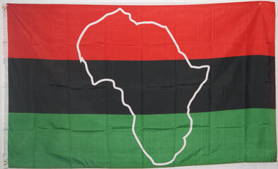 Afro American Map 3'X5' Flag Rough Tex® 100D
