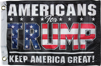 Americans For Trump Black KAG Keep America Great KNIT Double Sided