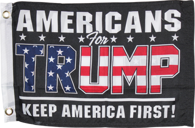 Americans For Trump Black KAF Keep America First Double Sided