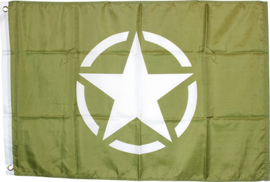 World War II Military Issue Olive Star Flag 2'x3'- Rough Tex® 100D