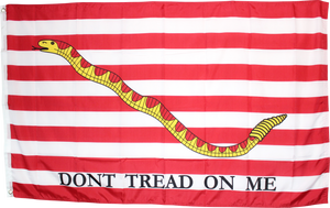 1ST NAVY JACK FIRST AMERICAN REVOLUTION NAVAL DON'T TREAD ON ME FLAG 3'X5' ROUGH TEX 100D