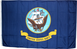 United States Navy Double Sided Embroidered 3'X5' Flag Rough Tex® 150D