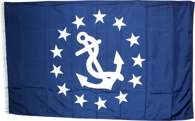 Yacht Club Commodore Navy Flag 3'X5' 100D ROUGH TEX ®