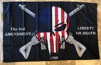 2nd Amendment Liberty Or Death  3'x5' Rough Tex ® 100D Flags American Gun Rights Black Tactical