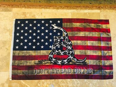 AMERICAN DON'T TREAD ON ME VINTAGE FLAG 3X5 ROUGH TEX 100D