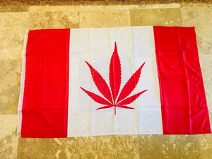 CANADA WEED CANNABIS CANADIAN FLAG 3X5 100D  ROUGH TEX
