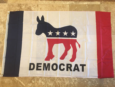 100D DEMOCRAT DNC FLAG 3X5 ROUGH TEX ®