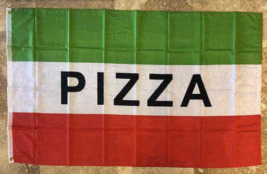 100D PIZZA BUSINESS BANNER ROUGH TEX ® 3X5 FEET FLAG