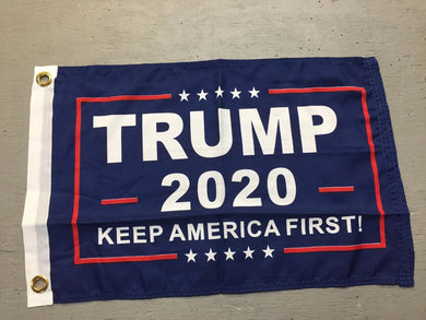 Trump 2020 Keep America First! Blue Boat Flags Rough Tex 100D ® 12