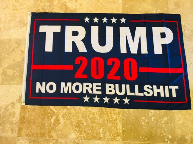 TRUMP 2020 NO MORE BULL CAMPAIGN FLAG 3X5 ROUGH TEX 100D