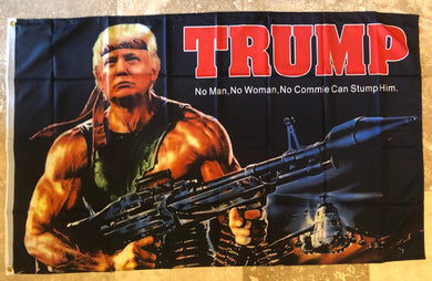 Trump Warrior Bazooka 3'x5' Rough Tex ® 100D Flags