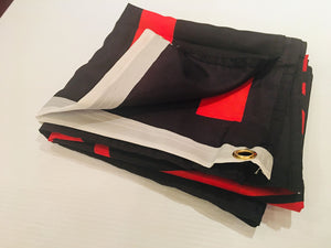 VIKING RAVEN BLACK & RED FLAGS  3X5 ROUGH TEX 100D
