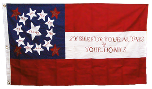 6 3'x5' COTTON 10TH TEXAS CAVALRY CS NAVY JACK STARS & BARS 1ST NATIONAL EMBROIDERED & SEWN