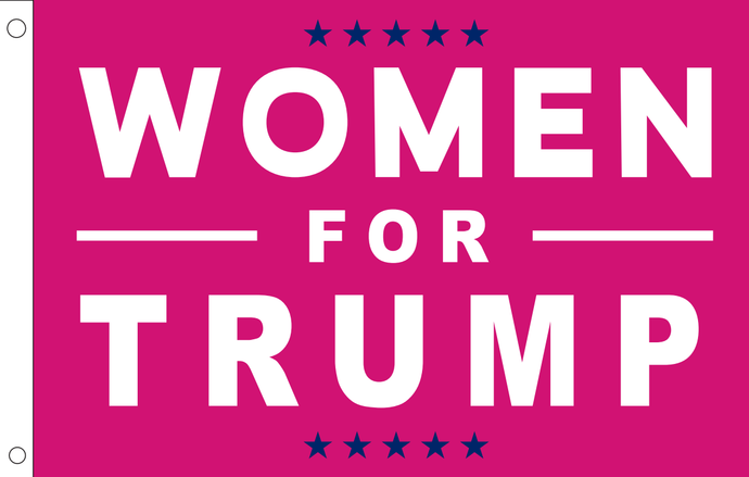 12INCH X 18INCH 100D WOMEN FOR TRUMP FLAG WITH STICK