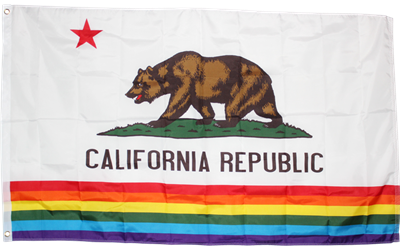 California Rainbow Flag 3x5ft 100D