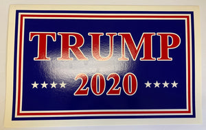 "Trump 2020 Red And Blue Double Sided Yard Sign 14.5""X 23"" Inches"
