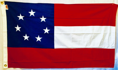 1ST NATIONAL TEXAS  3'X5' COTTON FLAG