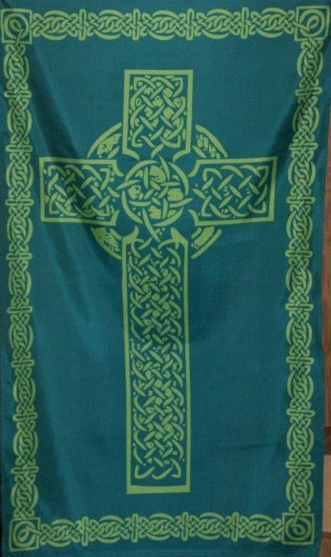 Celtic Cross Green 2'X3' Flag ROUGH TEX® 68D Nylon