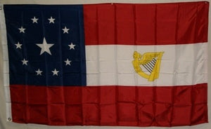 1st National Irish 3'x5' polyester Stars & Bars Harp 11 stars CSA National