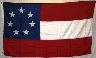 1st National CSA 7 Stars 300D Nylon Embroidered Flag 3x5ft Stars & Bars