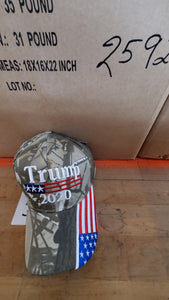 24 assorted TRUMP caps hats
