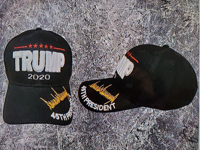 *SOLD OUT* Black Trump 2020 45th President Hat Gold Signature Cap - Original Trump Hat
