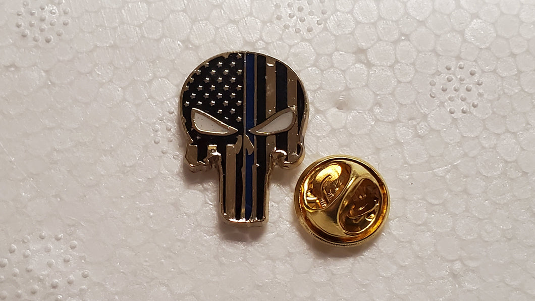 Police Punisher Cloisonné Hat Lapel Pin