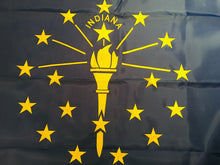 INDIANA 3'X5' EMBROIDERED 210D NYLON FLAG IN STATE FLAGS