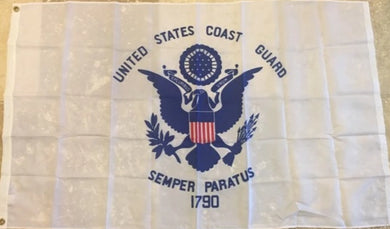 UNITED STATES COAST GUARD 100D ROUGH TEX ® 2'X3' FLAG USCG