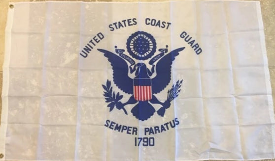 UNITED STATES COAST GUARD 210D NYLON MADE IN USA 3'X5' FLAG