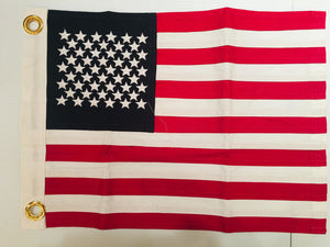 USA 100% COTTON SEWN & EMBROIDERED FLAGS 12X18 INCH