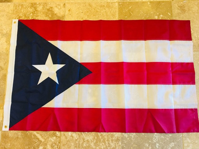PUERTO RICO 3'X5' EMBROIDERED 210D NYLON FLAG