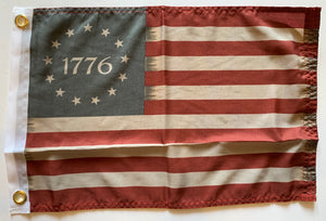 "Vintage Betsy Ross 1776 12""X18"" Flag With Grommets Rough Tex ® 100D"
