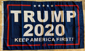 Trump 2020 KAF Keep America First Blue 3'X5' Flag 100D Rough Tex®