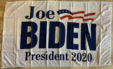 *IN STOCK NOW* Joe Biden Official Democratic Party Presidential Banner White 3'X5' Single Sided Flag Rough Tex® 100D
