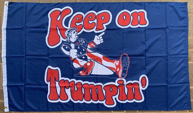 Keep On Trumpin' Blue 3'X5' Flag Rough Tex® 68D Nylon
