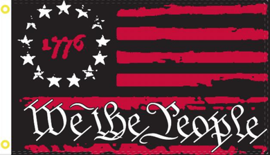2'X3' 100D 1776 PATRIOT RED WE THE PEOPLE BETSY ROSS FLAG
