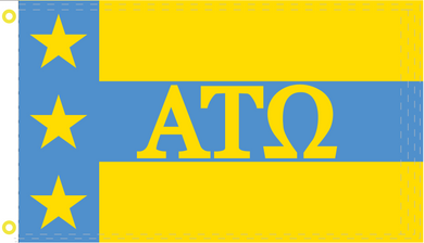 Alpha Tau Omega ATO Official 2'X3' Flag- Rough Tex® 100D