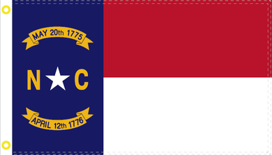 2'X3'  100D NORTH CAROLINA FLAG