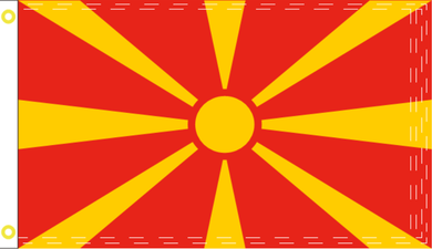 2'X3' 100D NORTH MACEDONIA FLAG