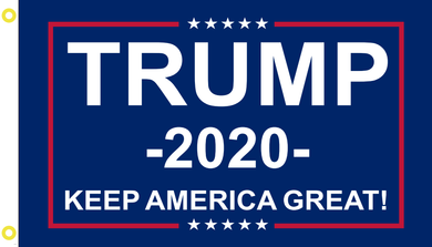 2'X3' 100D TRUMP 2020 KAG BLUE FLAG