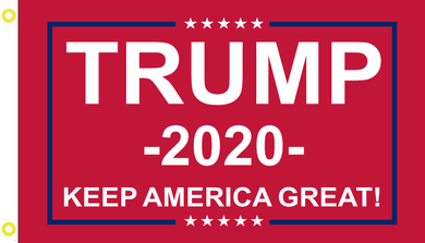 2'X3' 100D TRUMP 2020 KAG RED FLAG